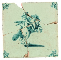 A wall tile depicting a horse