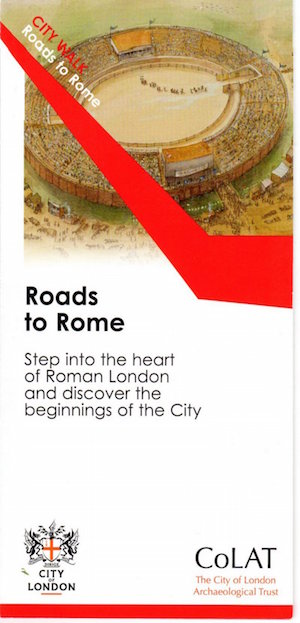 Cover of The Roads to Rome walking guide.